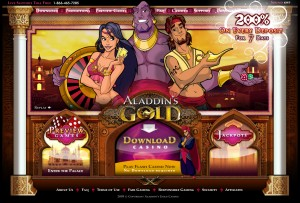 Aladdins Casino Homepage