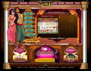 Aladdins Gold Casino Lobby Screenshot