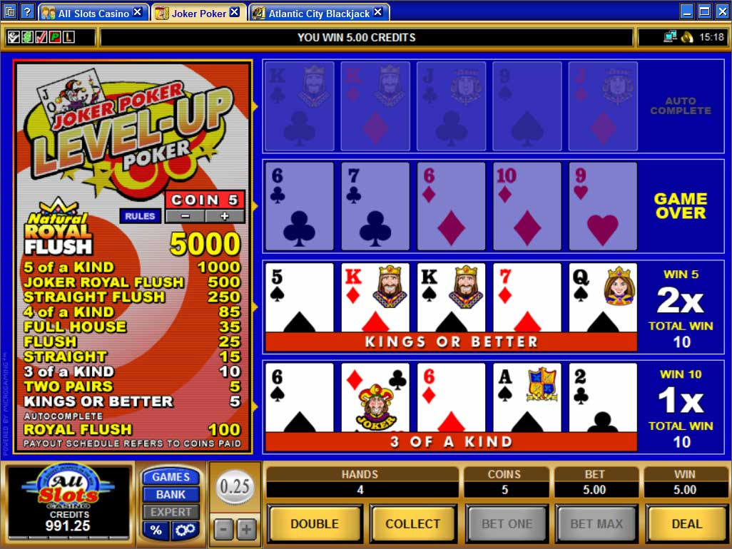 all slots video-poker
