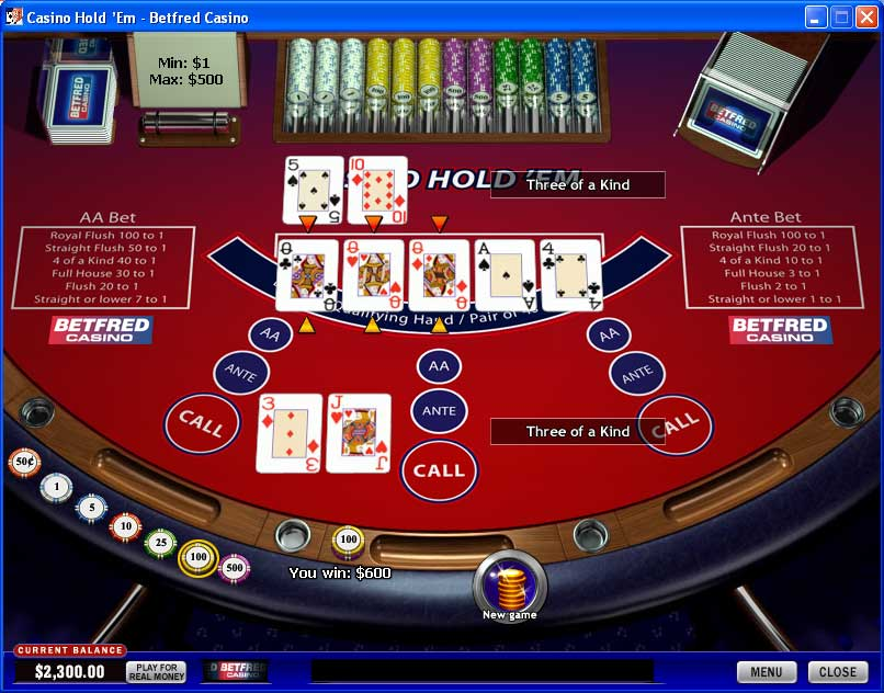 Betfred Texas Holdem