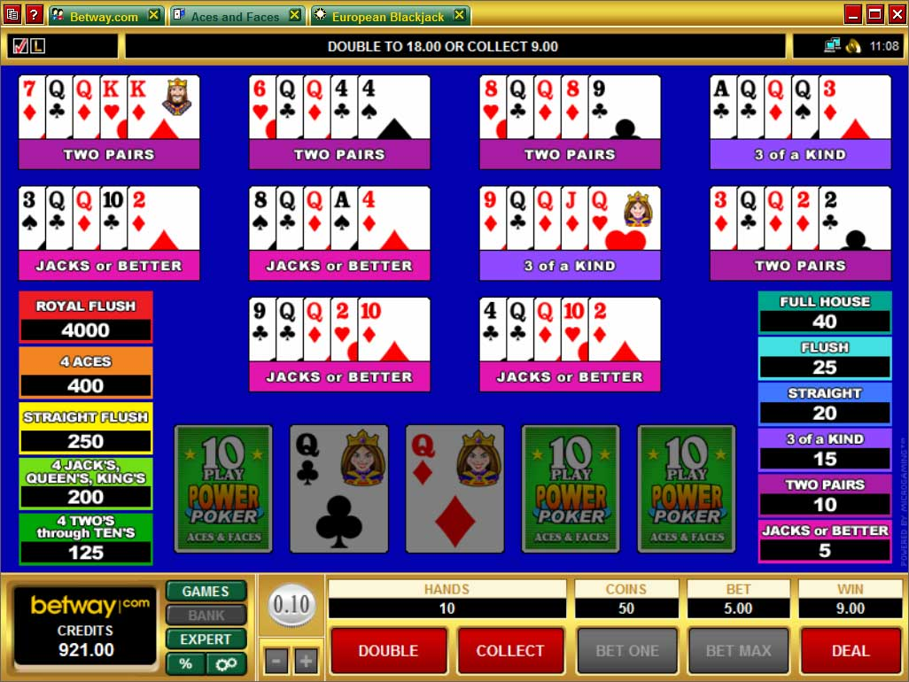 Betway Video Poker