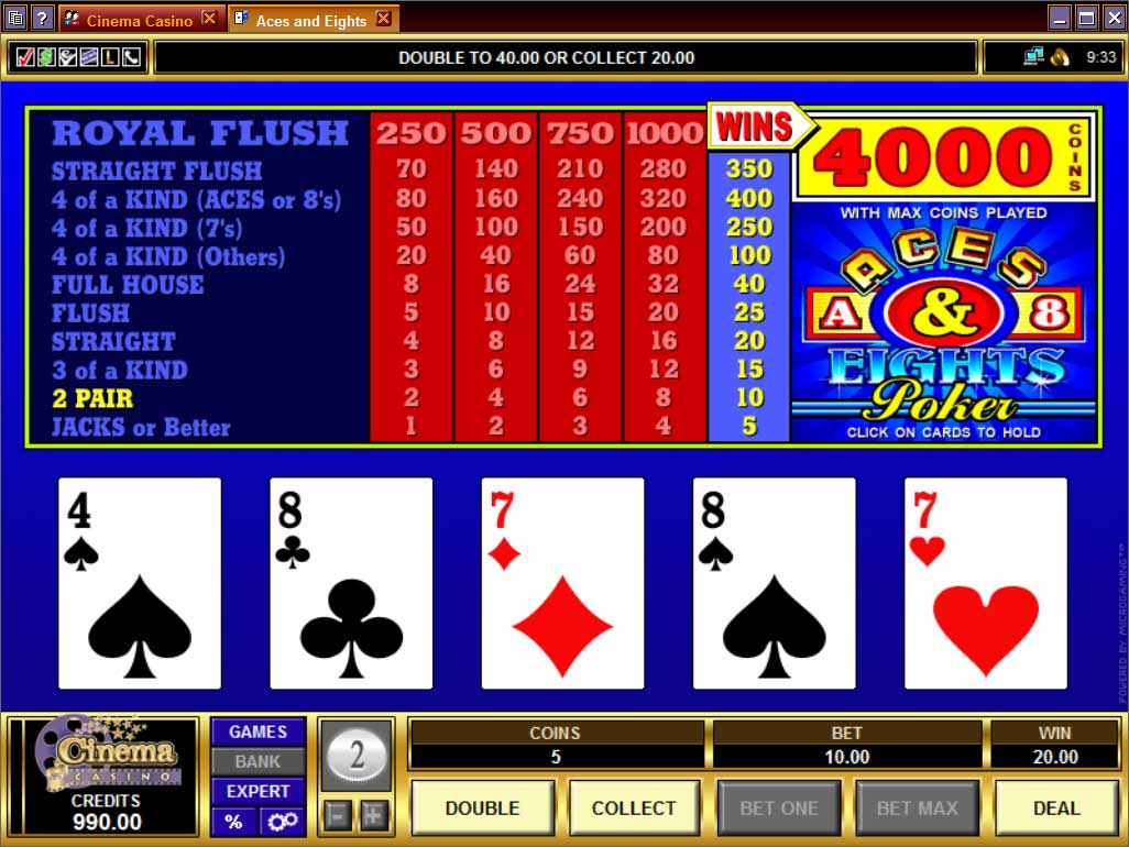 Cinema Casino Video Poker