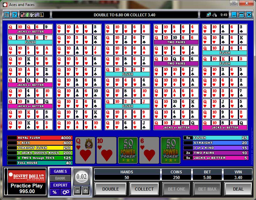 Desert Dollar Video Poker