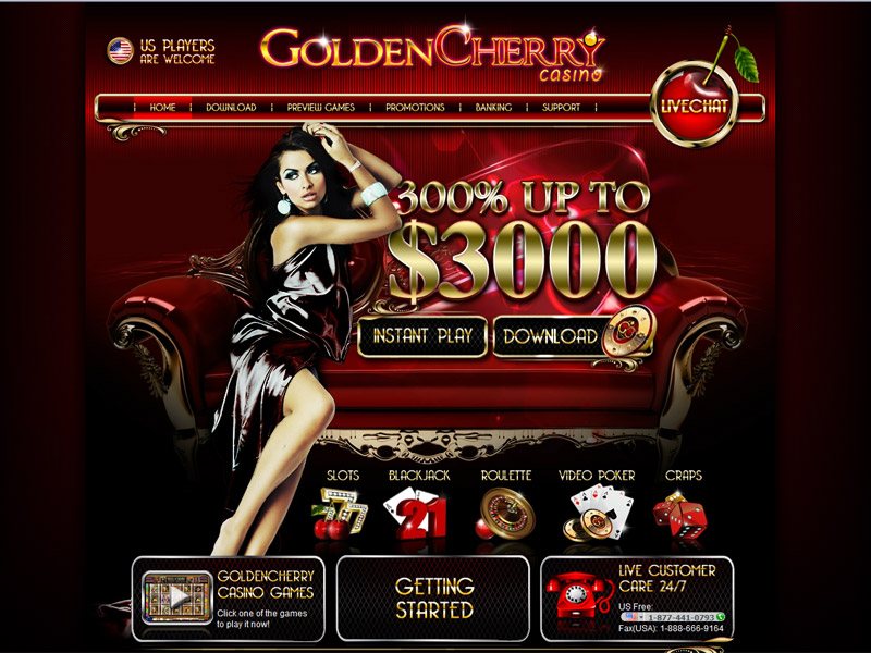 Golden Cherry Casino Homepage
