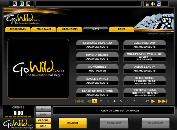 gowild casino code