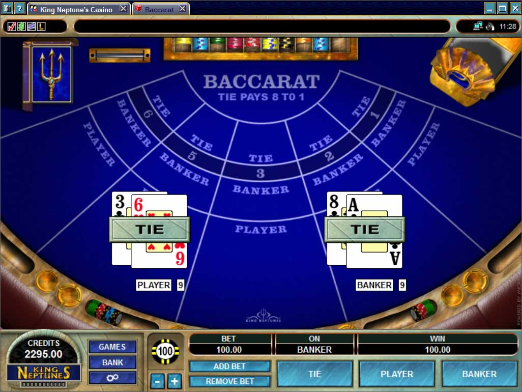 King Neptunes Casino Baccarat Poker