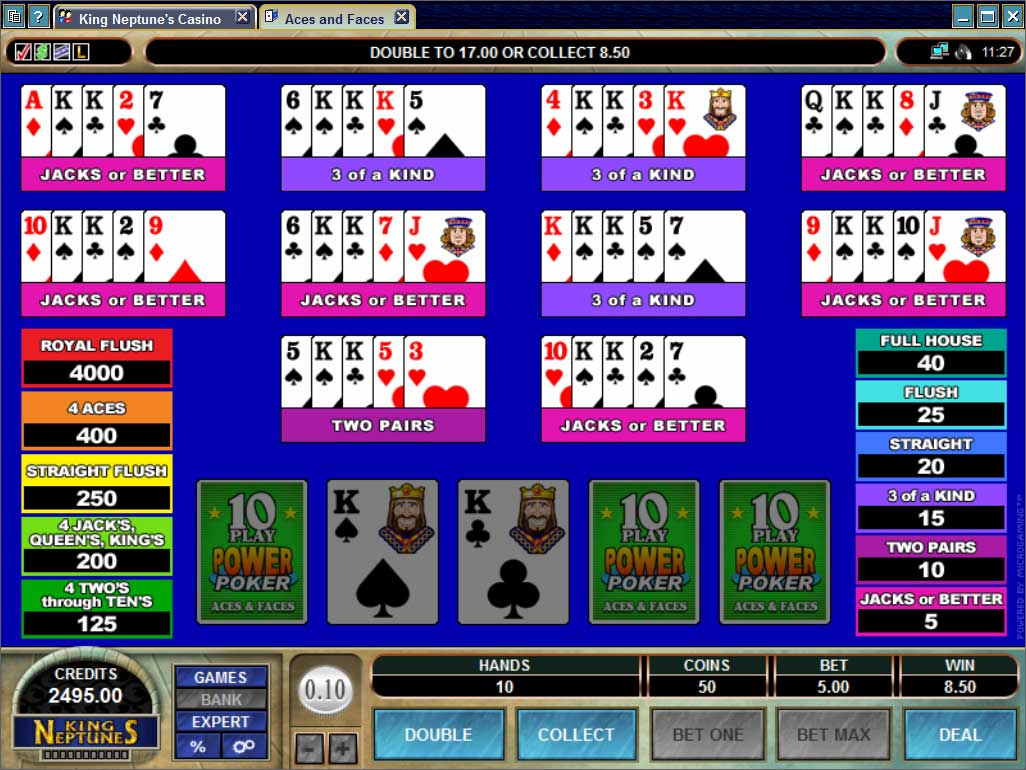 King Neptunes Casino Video Poker