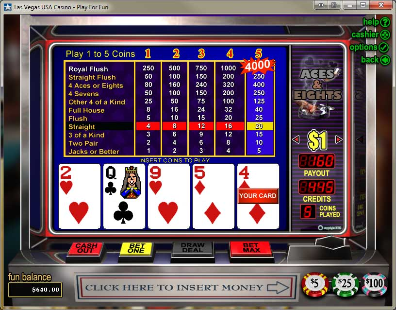 Las Vegas USA Casino Video Poker