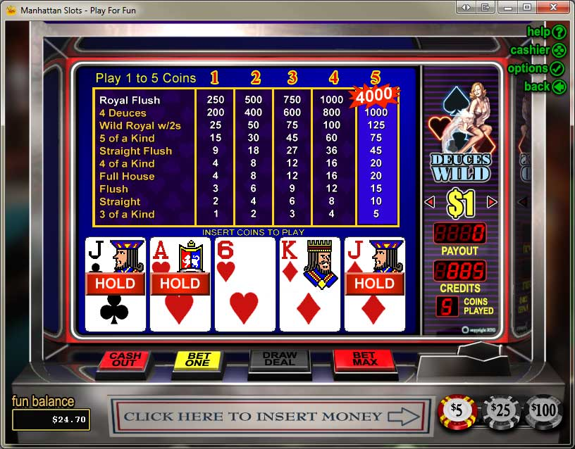 video slots and poker