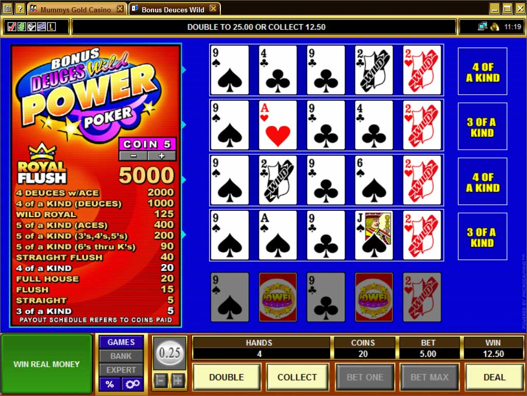 Mummys Gold Video Poker
