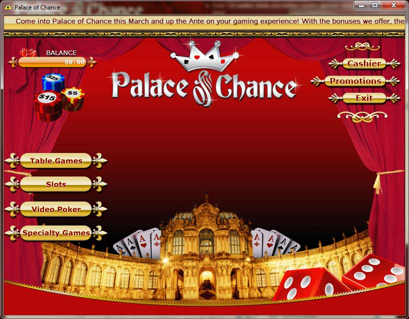 Palace Of Chance Lobby