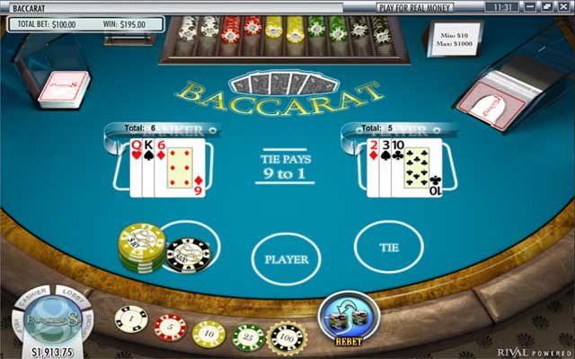 Paradise 8 Baccarat Screenshot