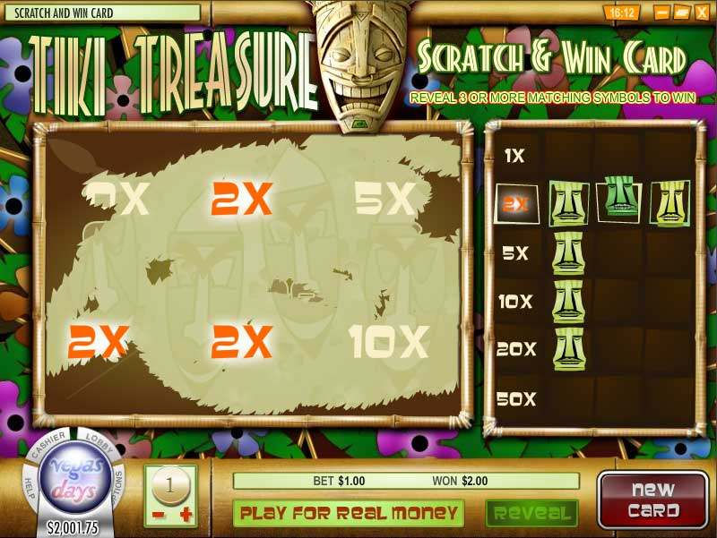 Simon Says Casino Scratchcard Screenshot