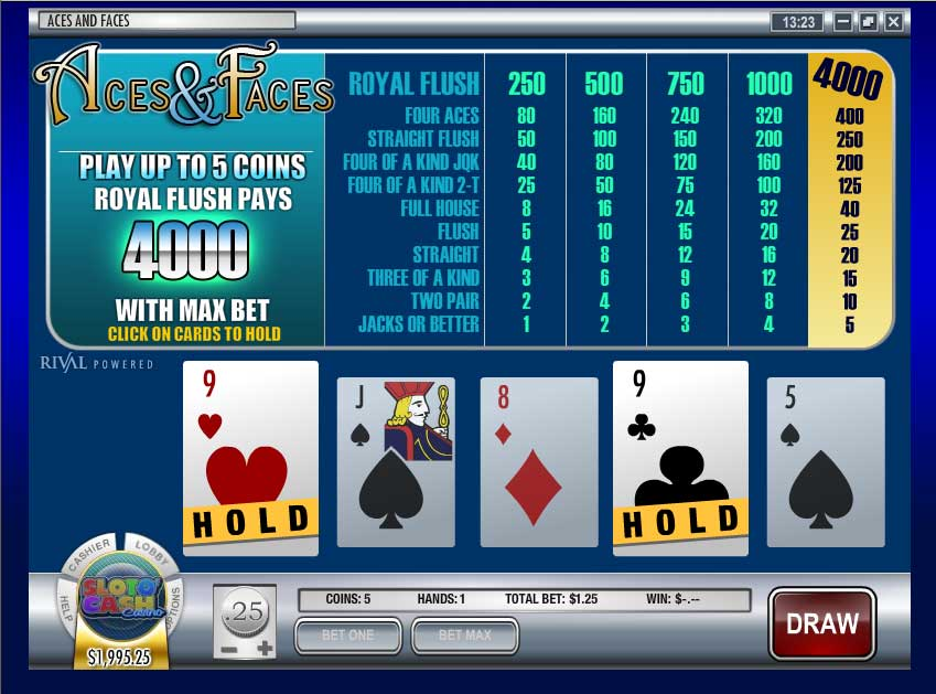Sloto Cash Video Poker