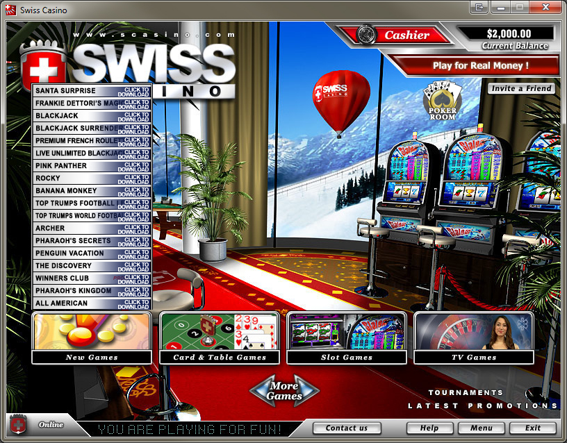 Swiss Casino Lobby
