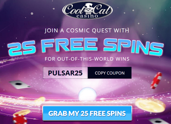 Cool Cat Casino 25 free spins