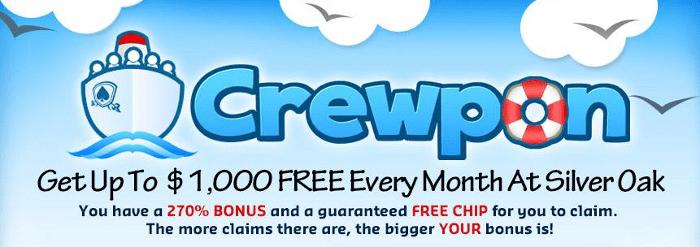 Silver Oak Crewpon Bonus