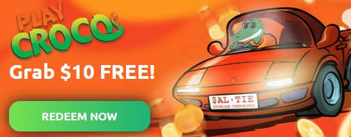 PlayCroco Casino $10 FREE Bonus