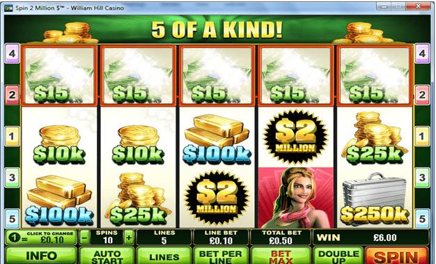 Spin $2 million slots